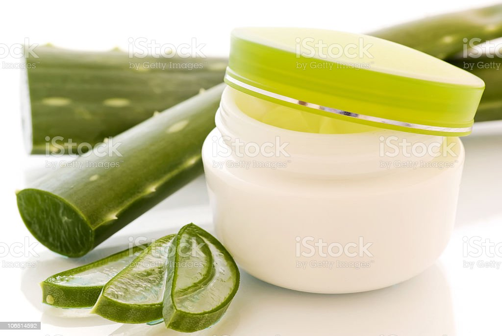 Aloe Skin Care stock photo