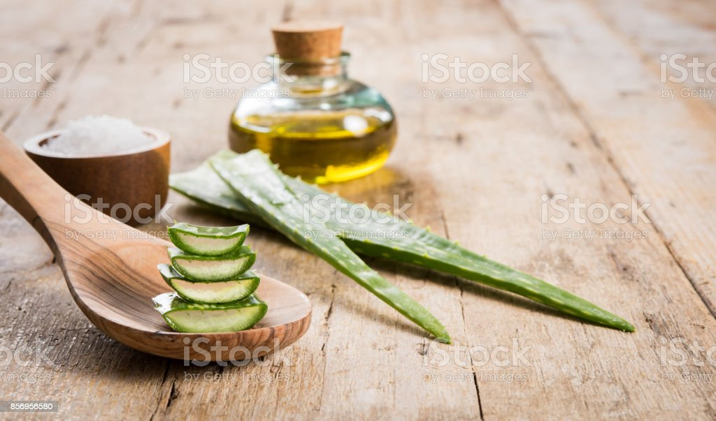 Aloe spa treatment stock photo