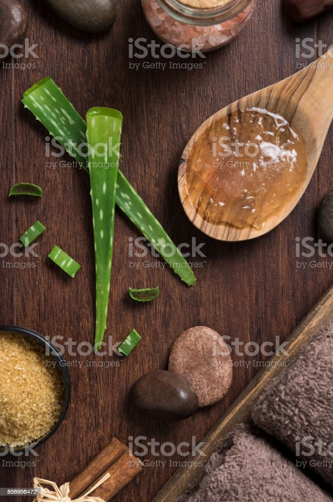 Aloe vera for spa treatment stock photo