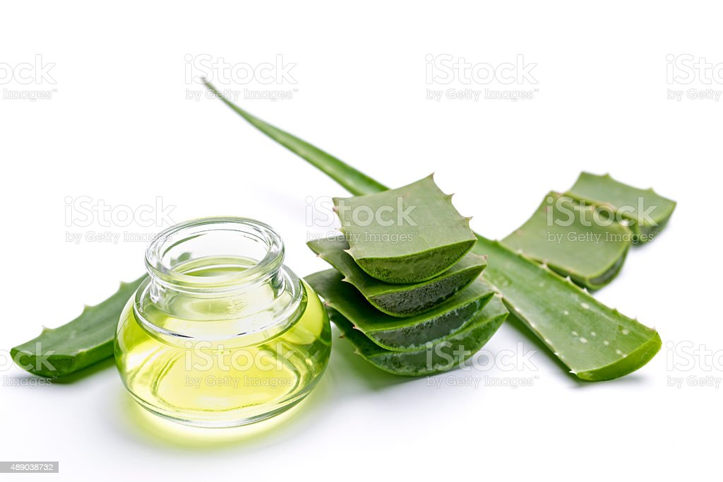 Aloe vera juice stock photo