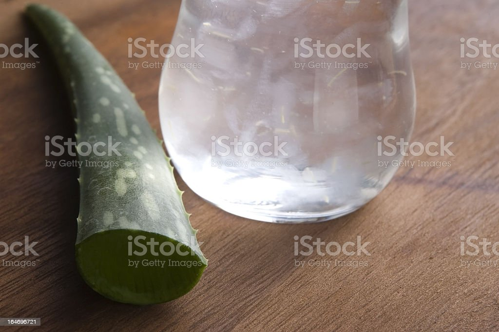 aloe vera juice with fresh leaves royalty-free stock photo