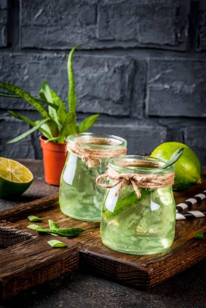 aloe vera eller kaktus saft - cactus lime bildbanksfoton och bilder