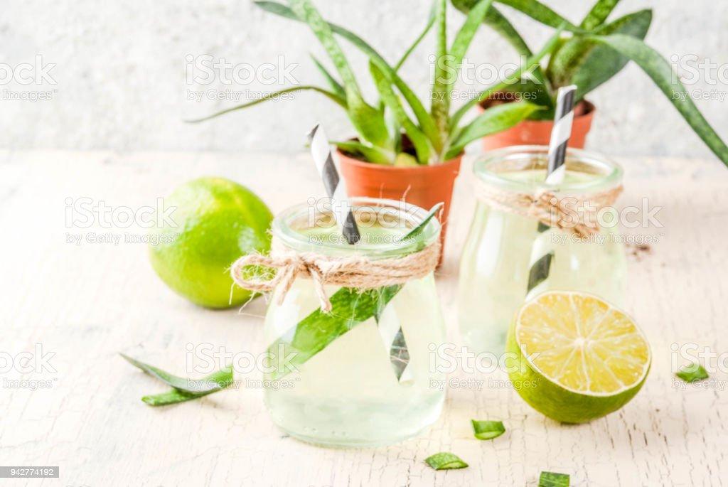 Aloe vera or cactus juice stock photo