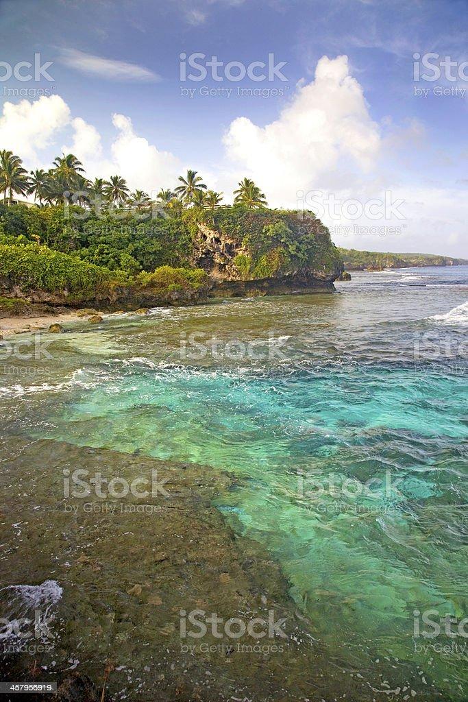 Alofi coastline, Niue. stock photo