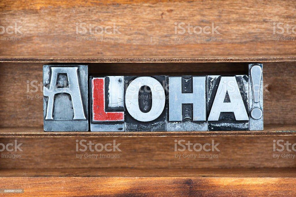 aloha exclamation tray ストックフォト