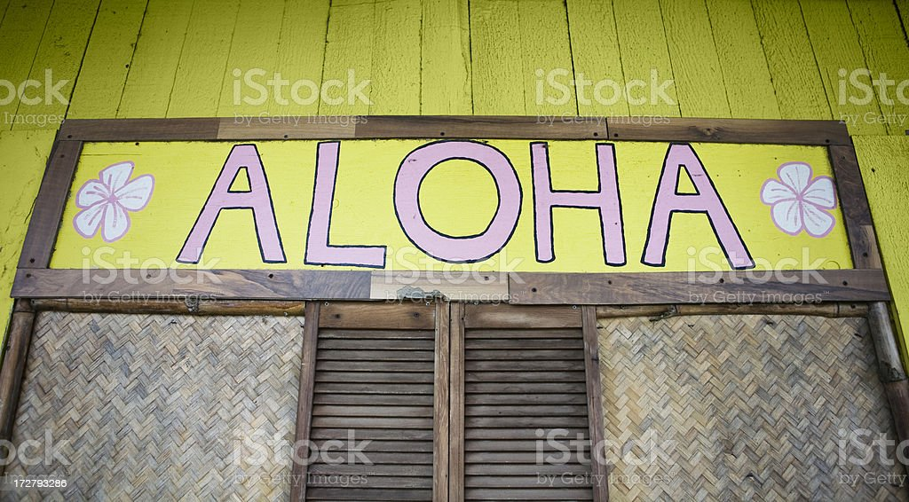 aloha greeting stock photo