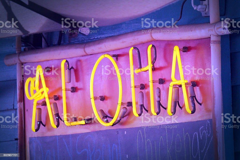 アロハネオンの看板 ストックフォト