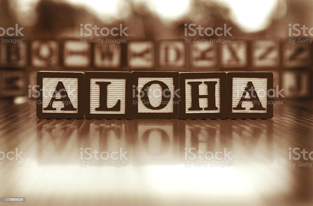 aloha royalty-free stock photo