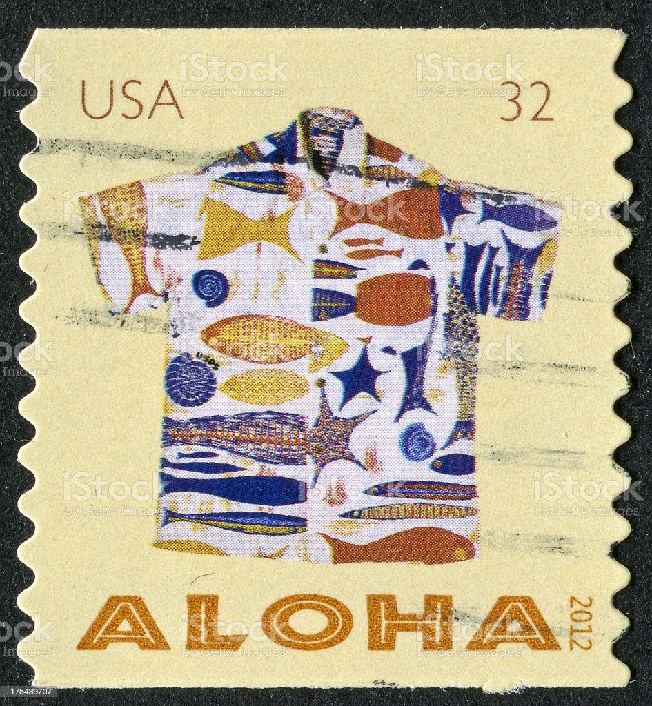 Aloha camisa de la firma - foto de stock
