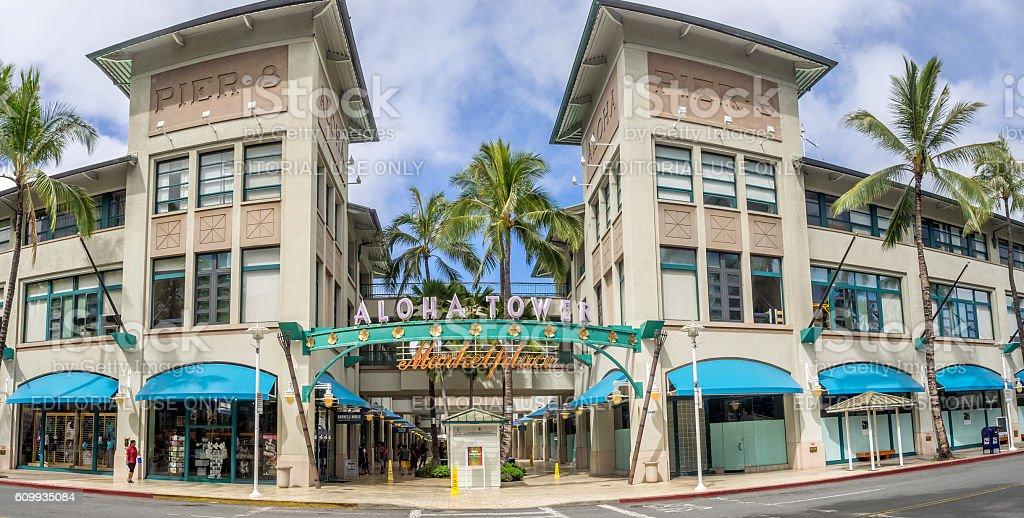 Aloha Tower Market Place stock photo