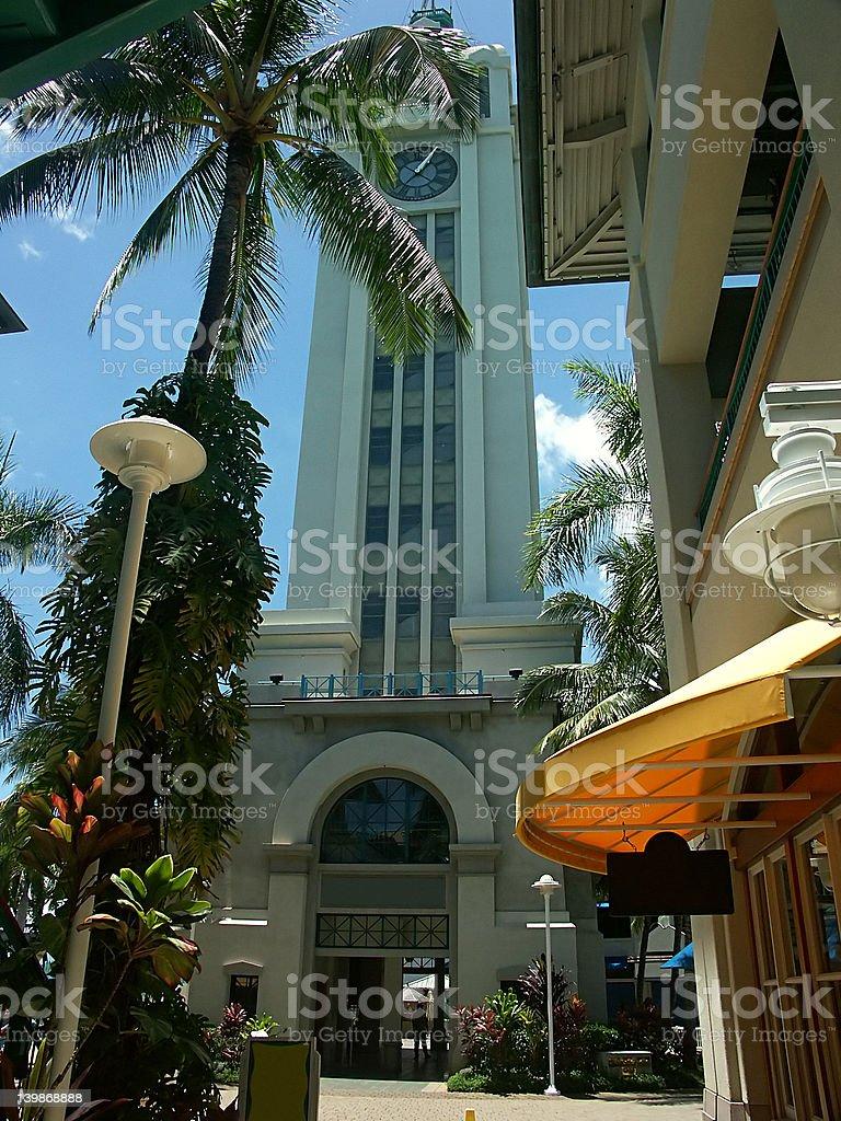 Aloha Tower royalty-free stock photo
