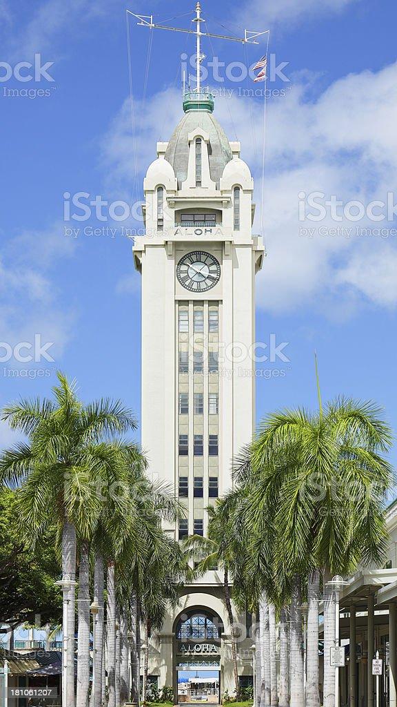 Aloha Tower stock photo