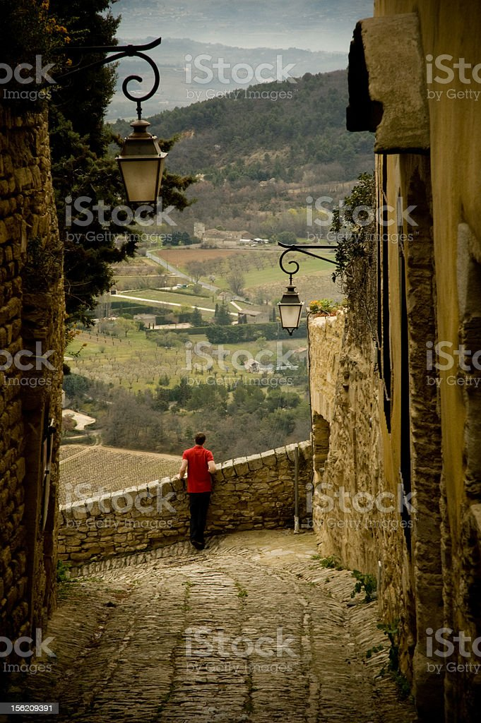 Alone at Gordes stock photo