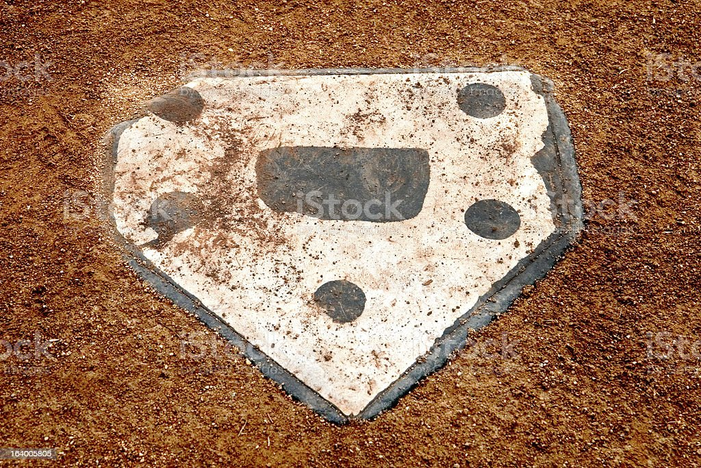 alone at home plate stock photo