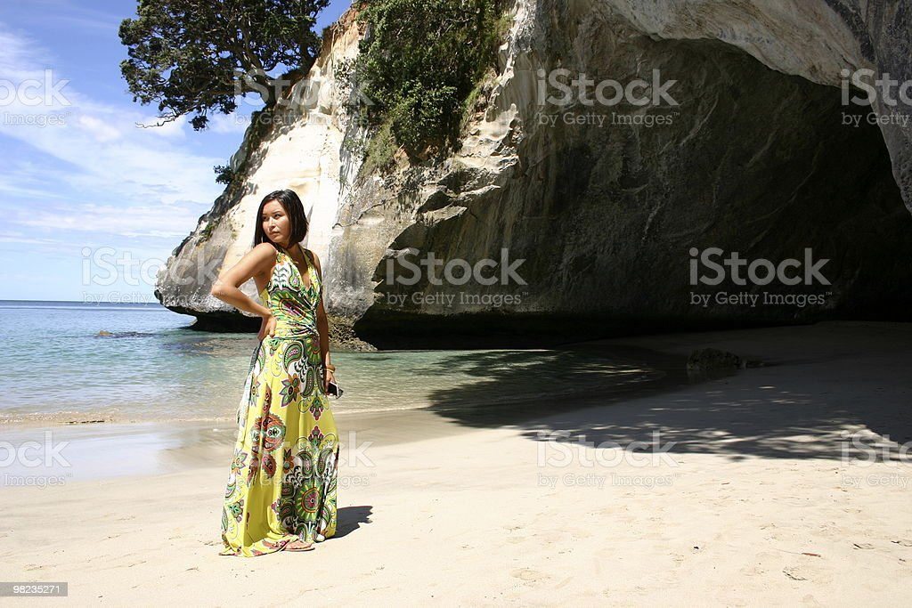Alone at the beach royalty-free stock photo