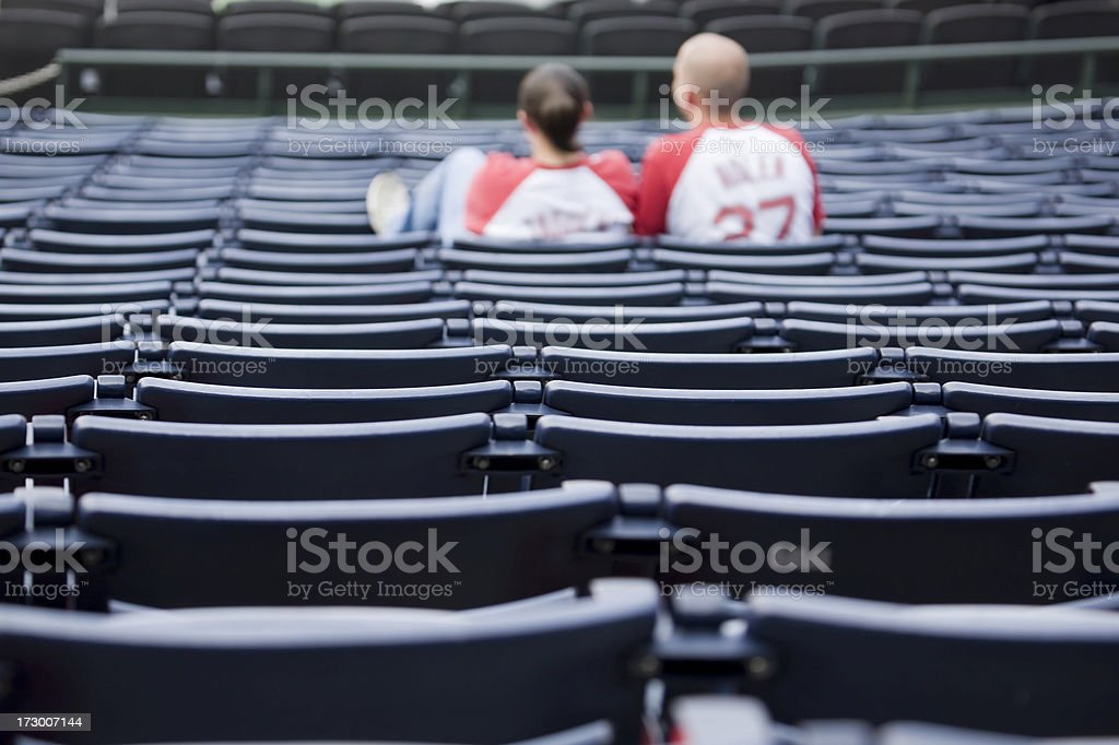 alone at the game royalty-free stock photo