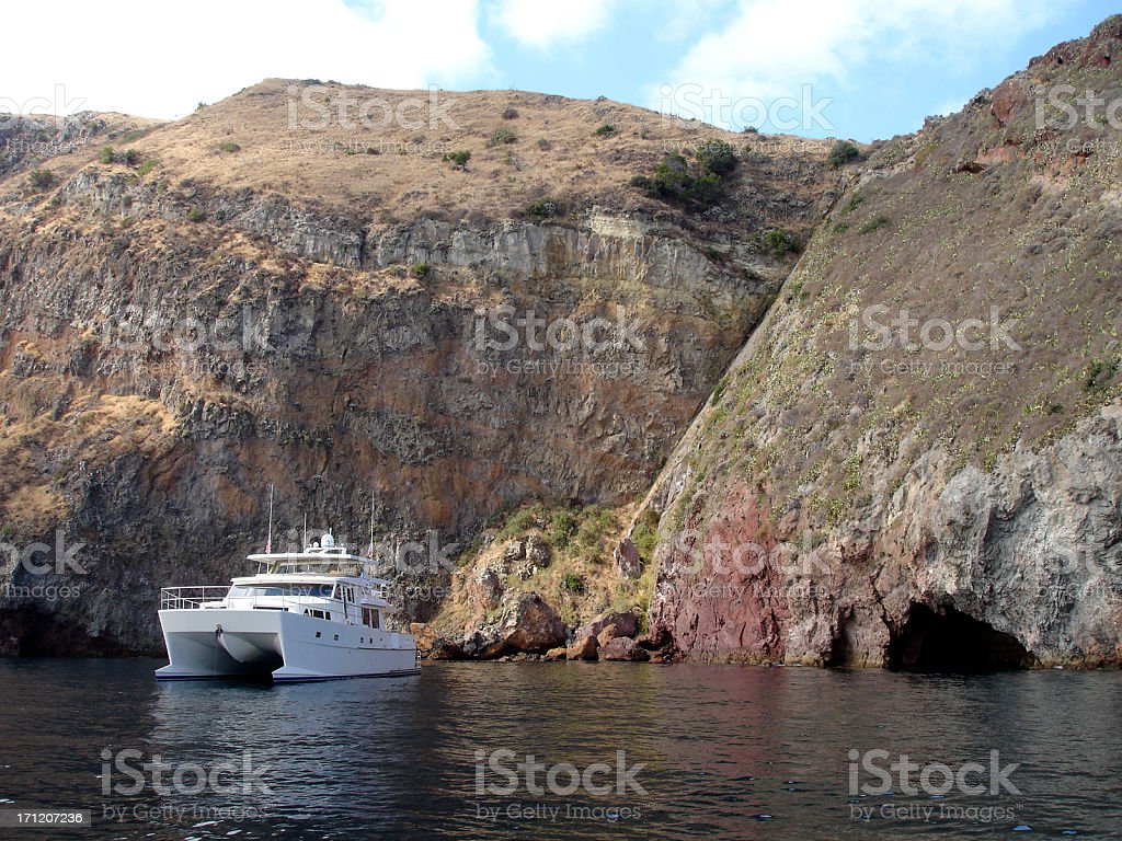 Alone by the Cliffs royalty-free stock photo