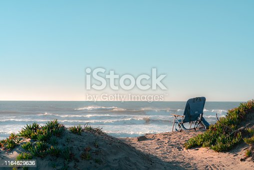 Alone Chair at the Ocean Beach, San Francisco - California