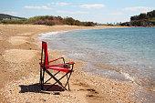 alone chair on the beach