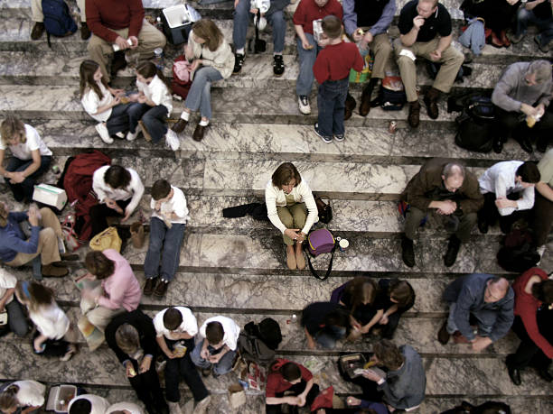 Alone in a Crowd  desolation stock pictures, royalty-free photos & images