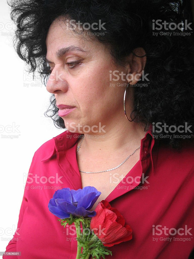 Alone in a thought royalty-free stock photo