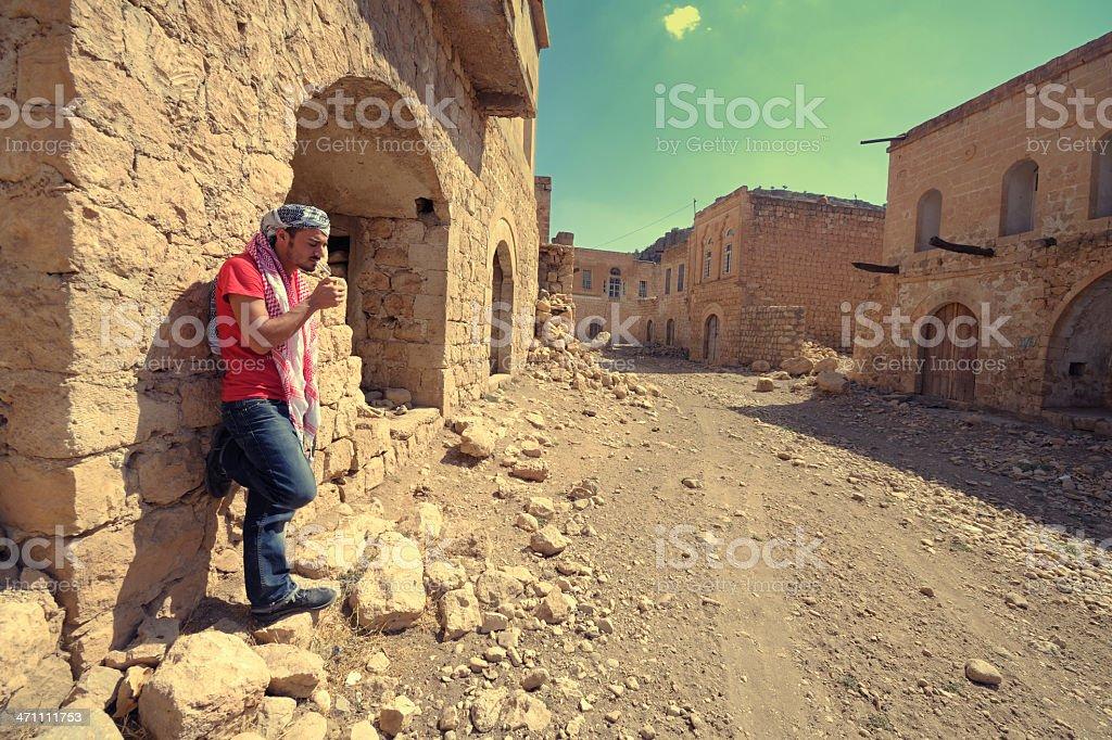 Alone in Ghost Town, Killit in Mardin, Turkey royalty-free stock photo