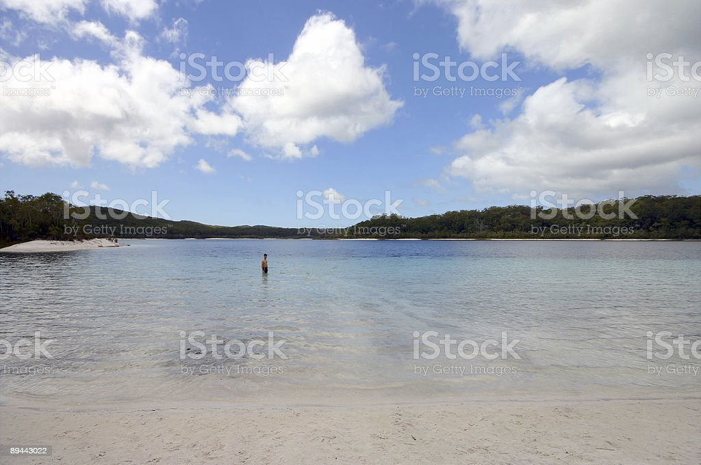 Alone in Lake McKenzie 免版稅 stock photo
