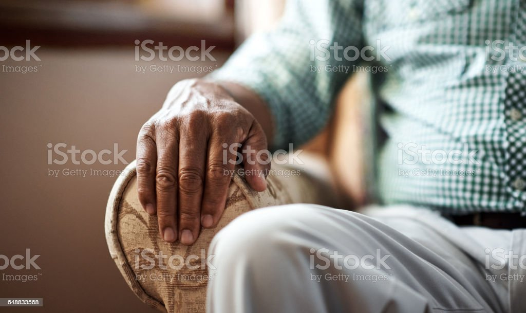 Alone in my golden years stock photo