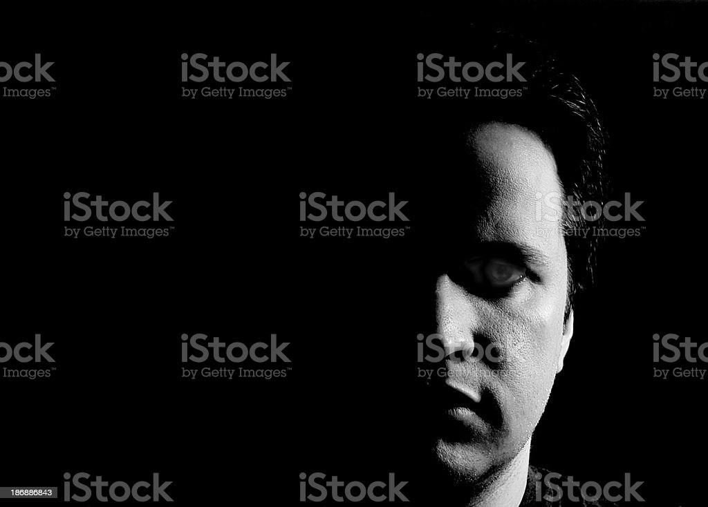 Alone in the dark 01 stock photo