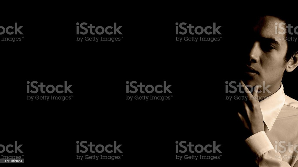 Alone in the dark royalty-free stock photo