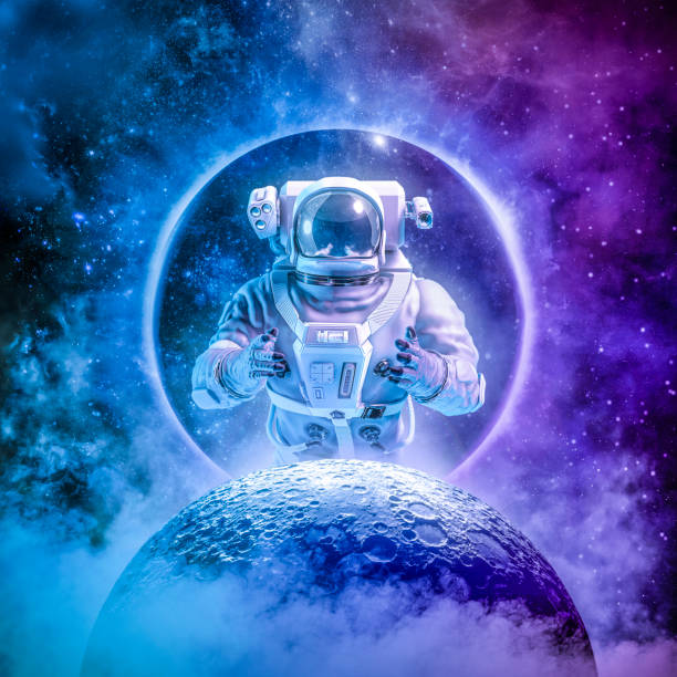 Alone in the final frontier stock photo
