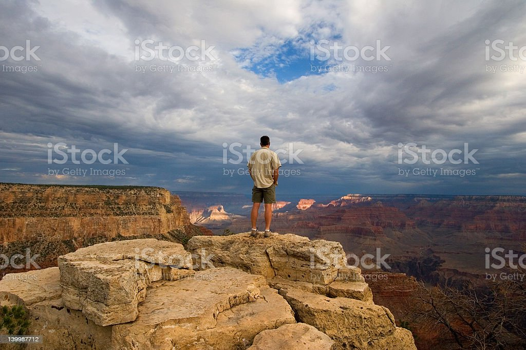 Alone in the Grand Canyon royalty-free stock photo