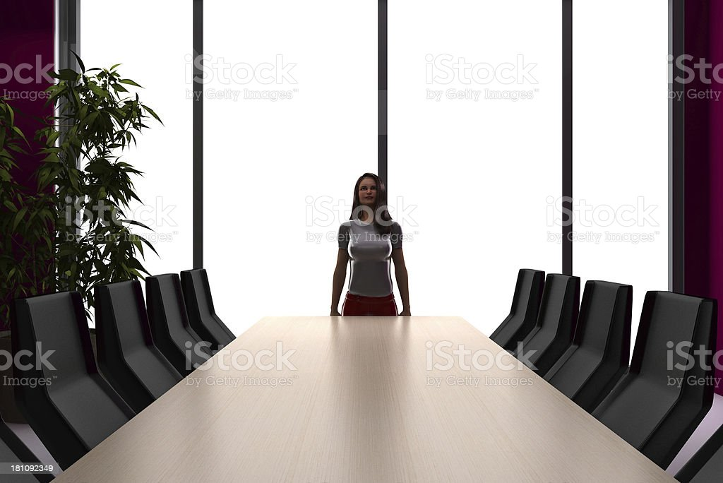 Alone in the meeting room stock photo