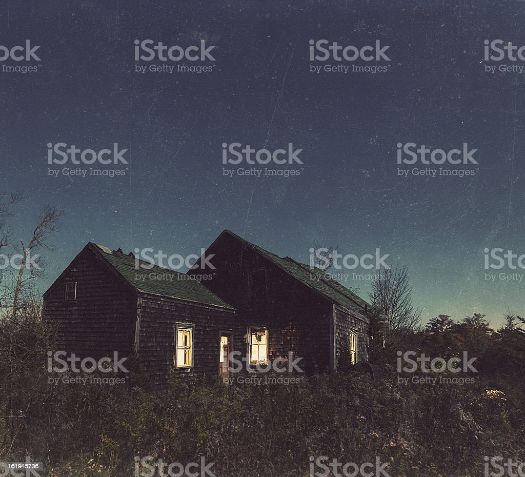 Alone in the Night royalty-free stock photo