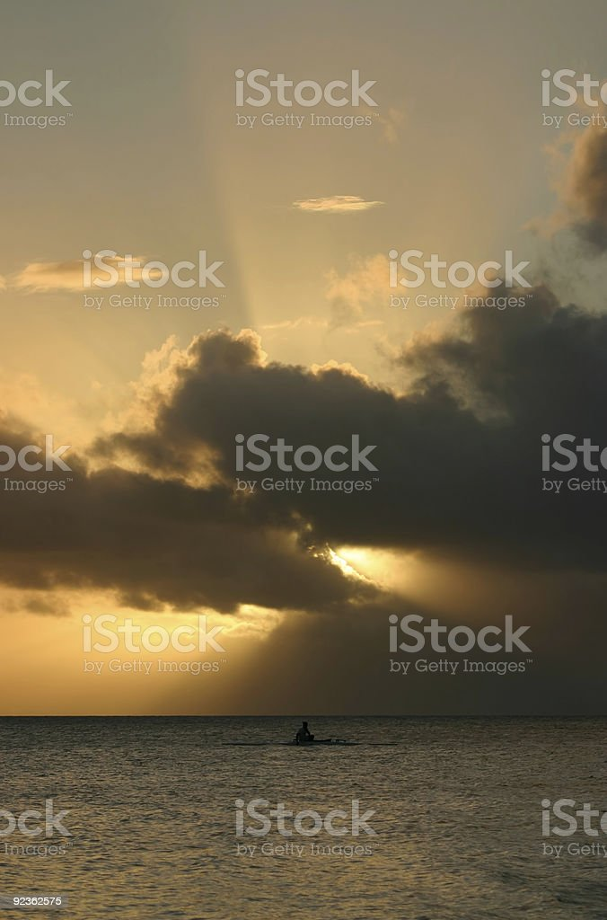 Allein auf das Meer Lizenzfreies stock-foto