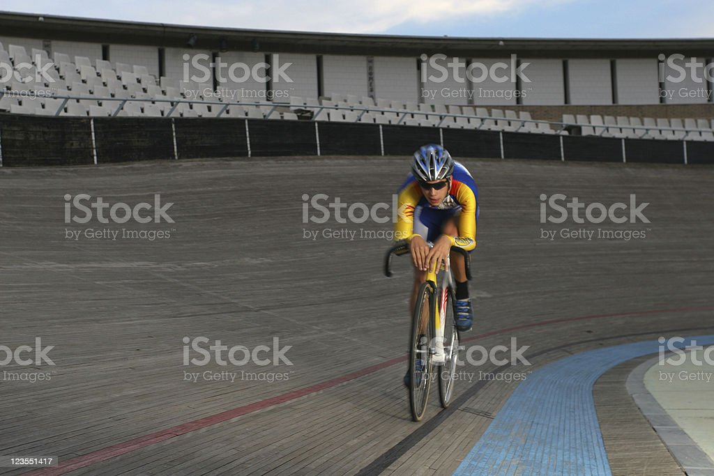 Alone in training royalty-free stock photo