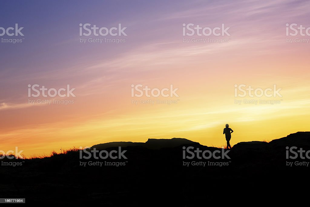 Alone on a Cliff stock photo