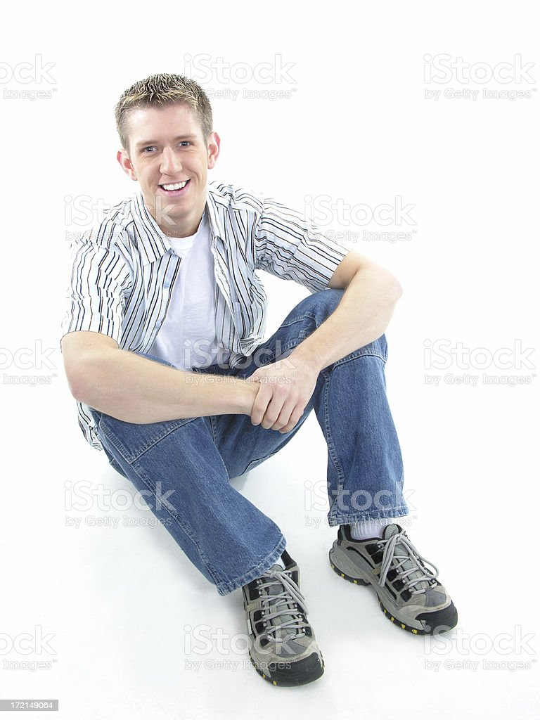 alone on the floor royalty-free stock photo
