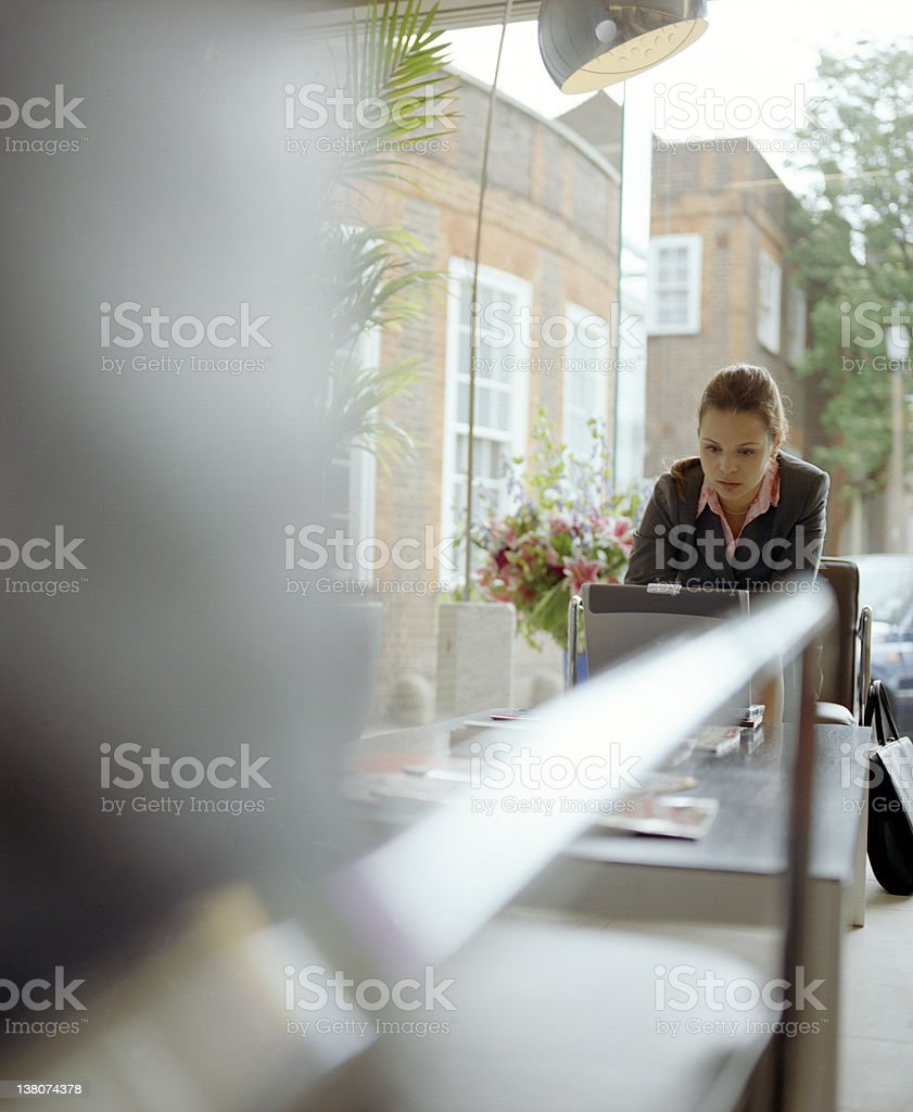Alone on the laptop royalty-free stock photo