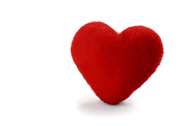 Alone plush heart stock photo