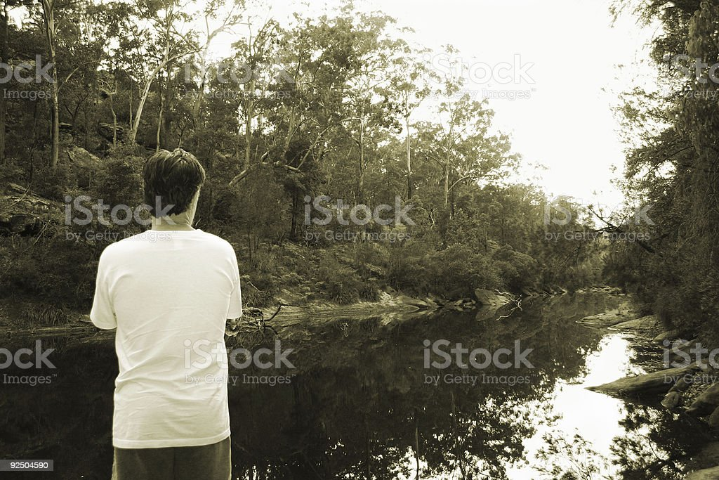 Alone with nature royalty-free stock photo