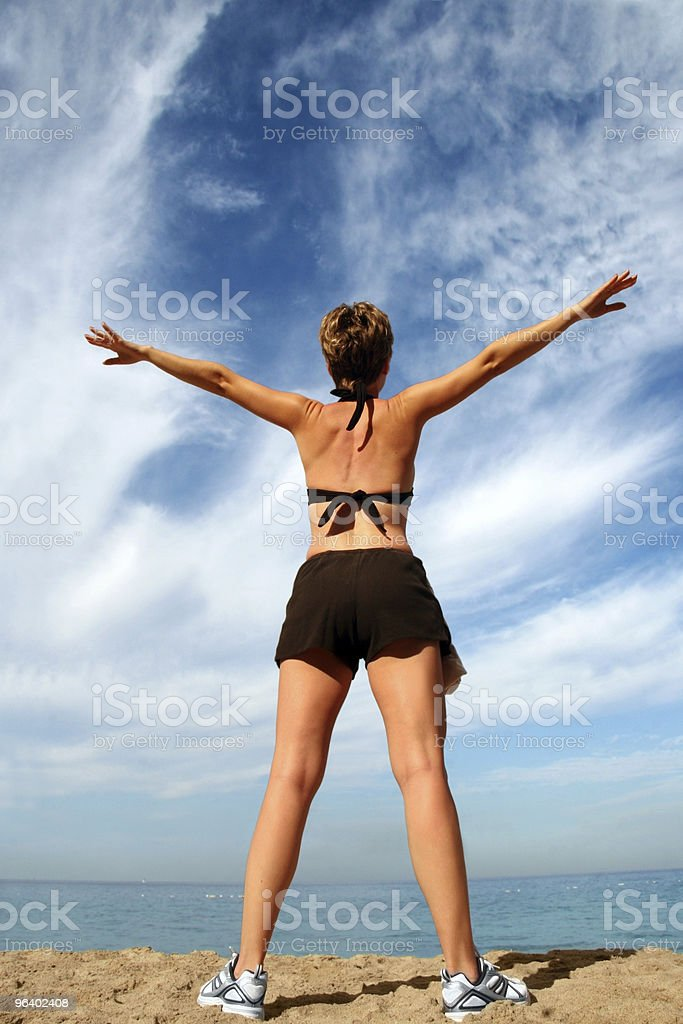 Alone with nature - Royalty-free Agreement Stock Photo