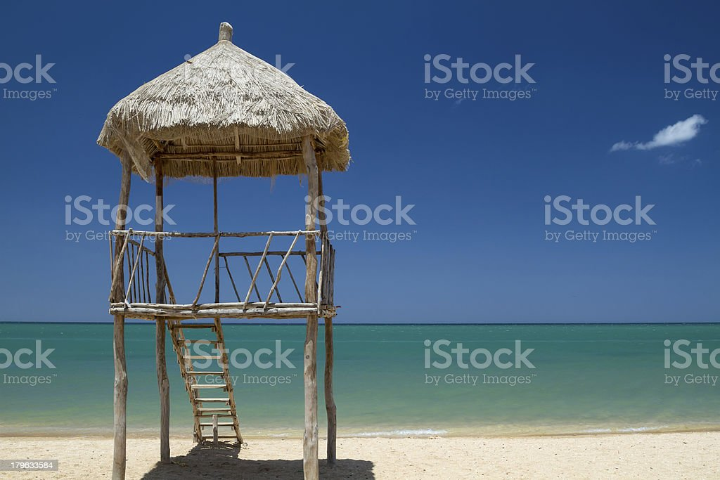 Alone with the sea royalty-free stock photo