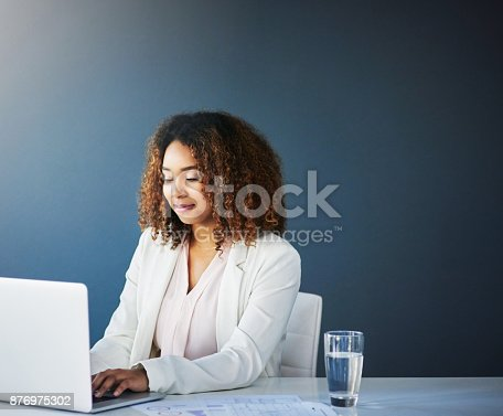 istock Alone yet efficient 876975302