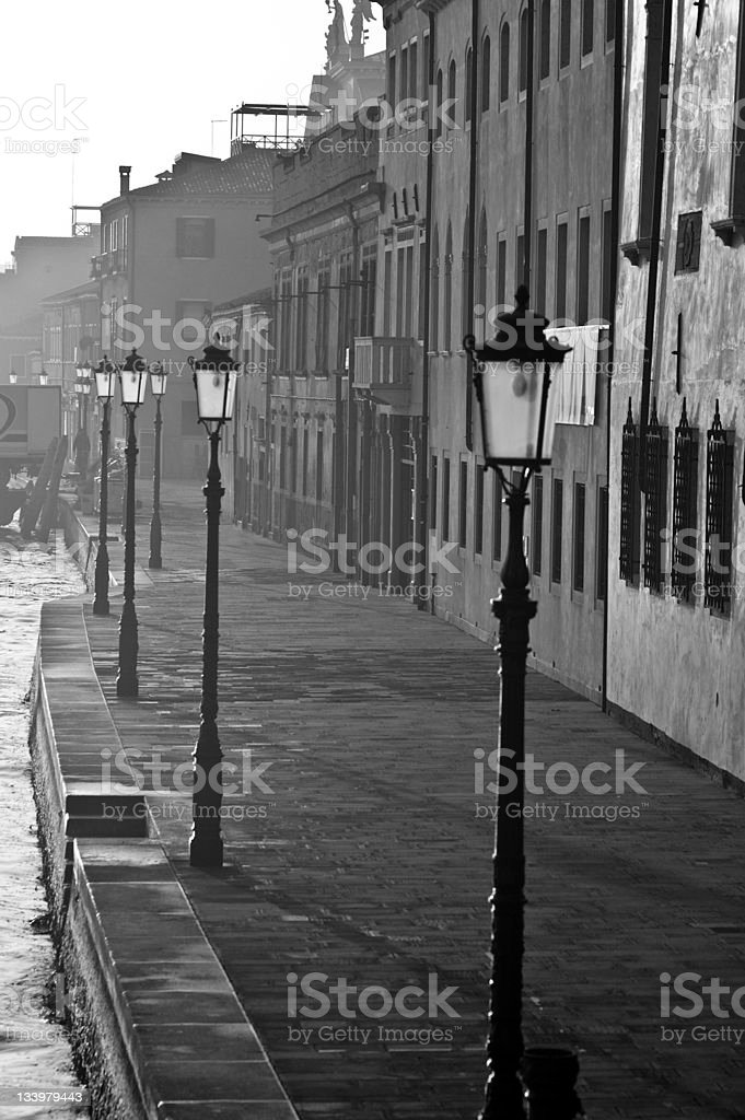 Along a Venice Canal stock photo