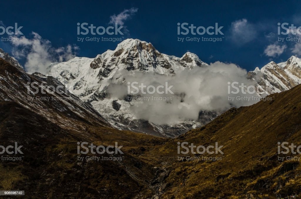Along Annapurna Basecamp stock photo