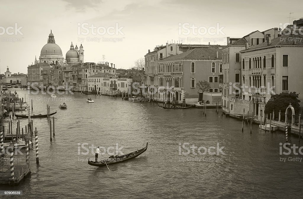 Along Canal Grande royalty-free stock photo