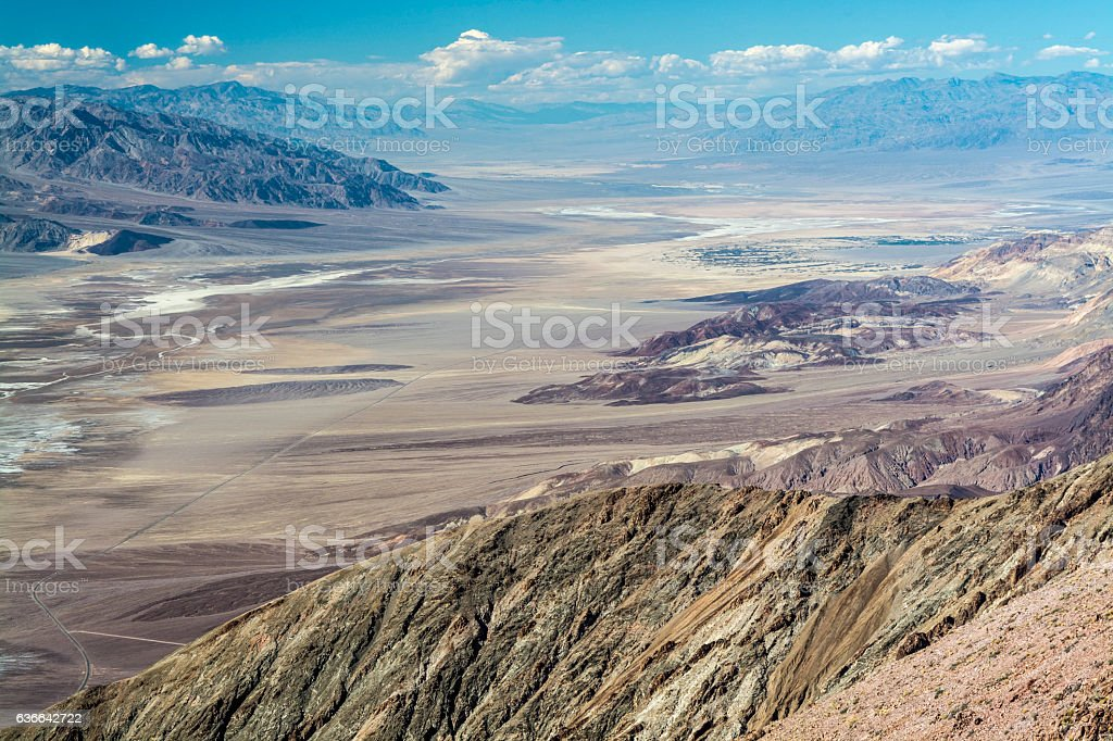 Along Death Valley stock photo