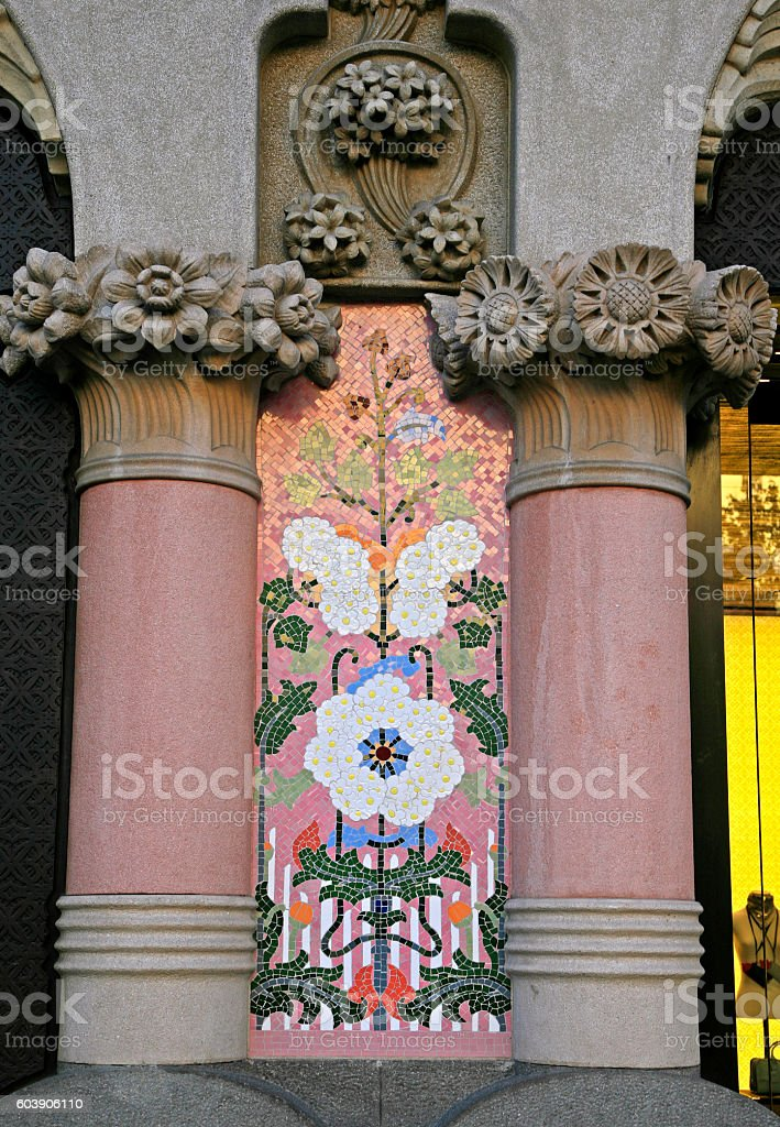 Along Passeig de Gracia, Barcelona, Catalunia, Spain stock photo