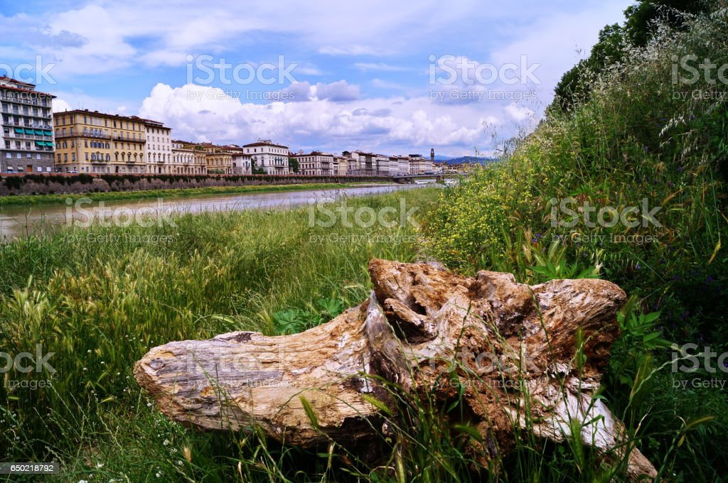 Along the Arno River Florence - foto stock